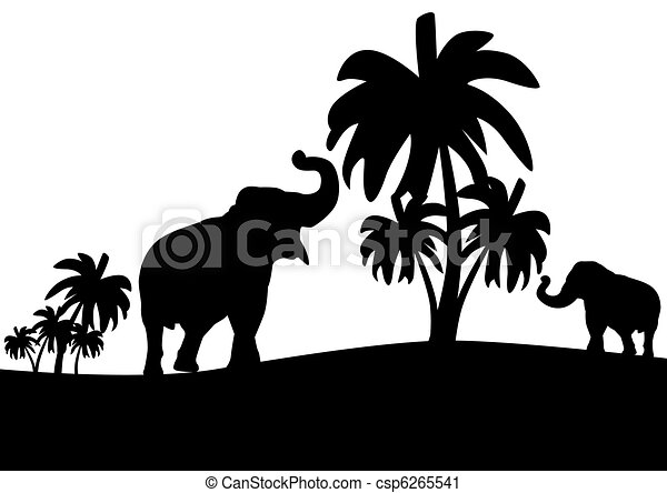 Elephants in the jungle - csp6265541