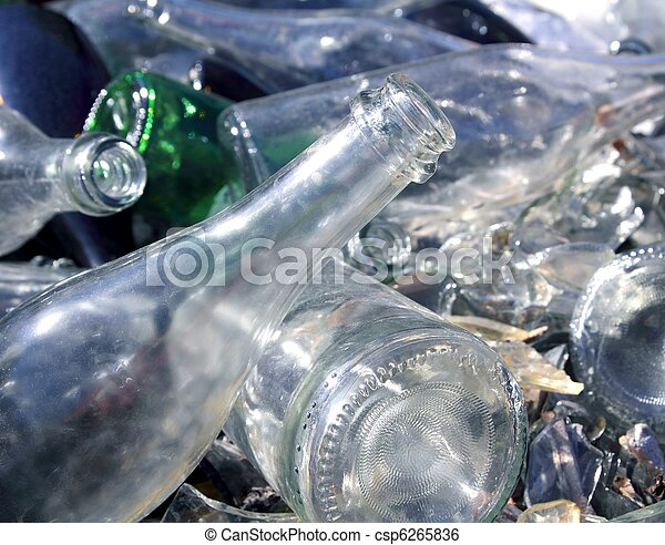 bottle glass recycle mound pattern - csp6265836