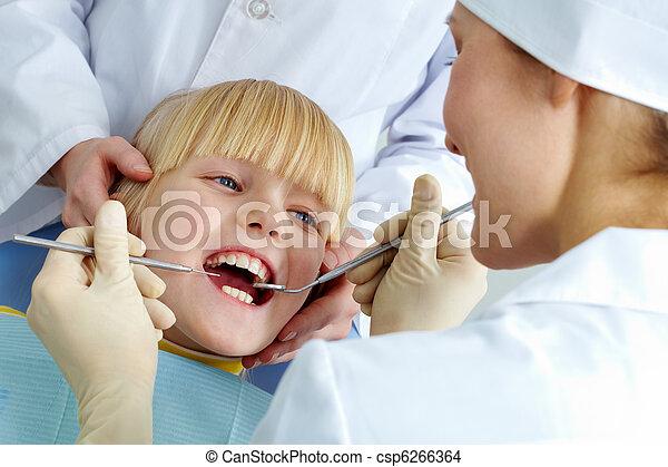In dental clinic - csp6266364