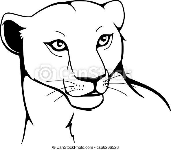 Vecteur de lionne csp6266528 recherchez des images - Lionne dessin ...