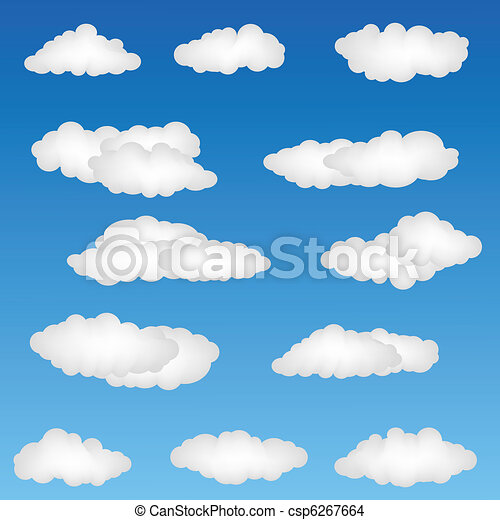 Cloud Shapes Drawing Cloud Shapes Illustration of
