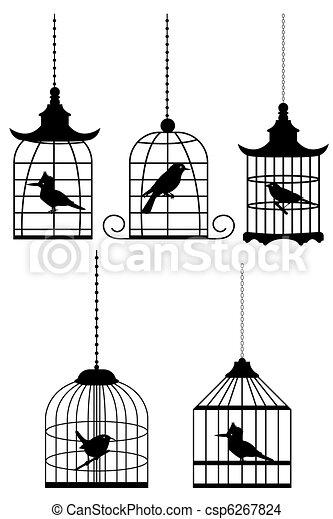 bird in cage - csp6267824