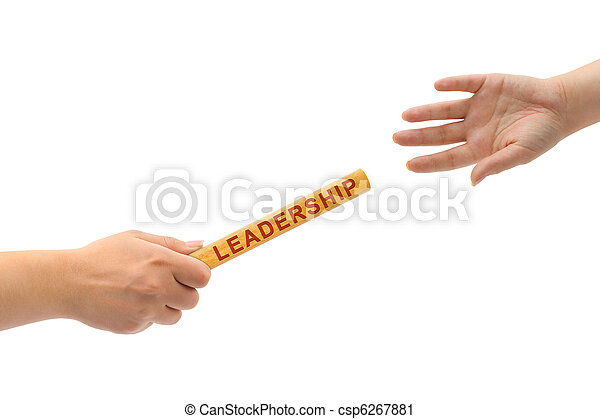 Hands and relay race Leadership - csp6267881