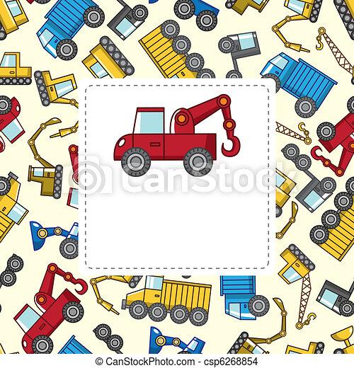 cartoon truck card - csp6268854