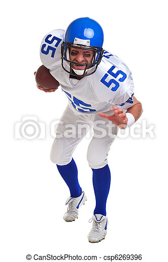 American football player cut out - csp6269396