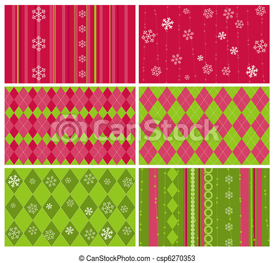 Set of Christmas Backgrounds for design - csp6270353