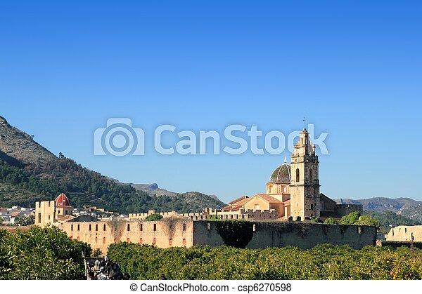 Santa Maria de la Valldigna Simat Monastery Spain - csp6270598