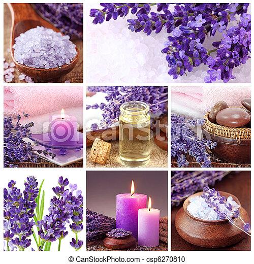 Lavender spa collage - csp6270810