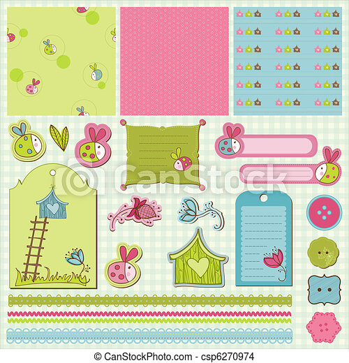 Baby Scrap with Ladybugs - csp6270974