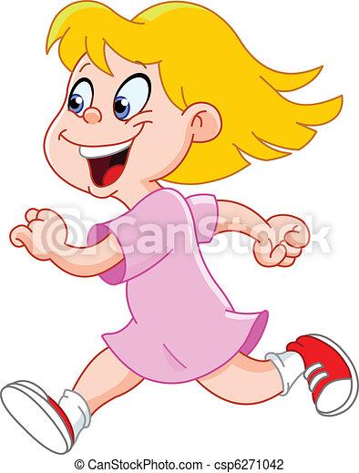 Little girl running - csp6271042