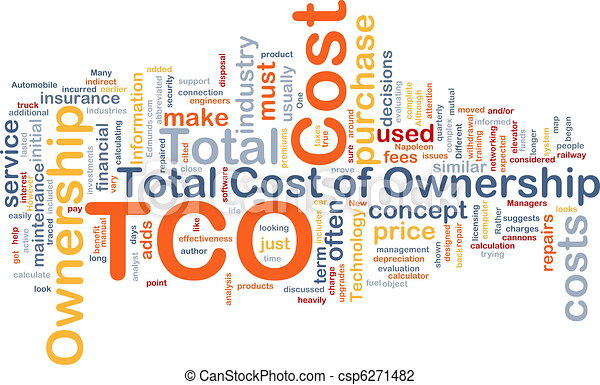Total cost of ownership background concept - csp6271482