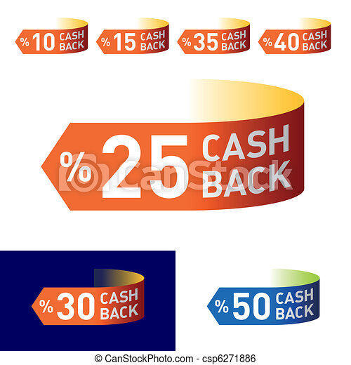 Cash-back emblem - csp6271886