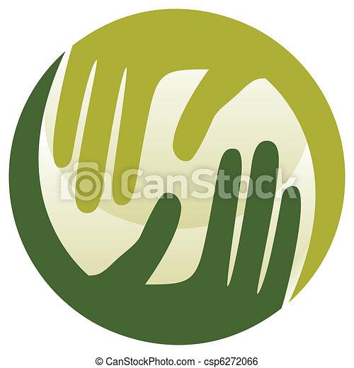 Natural caring hands design.  - csp6272066