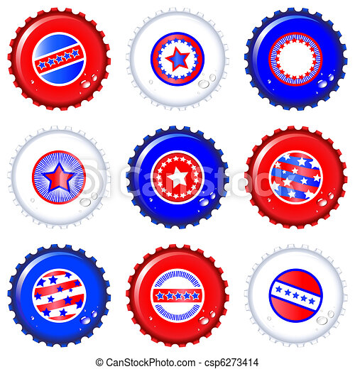 Stars & Stripes bottle caps - csp6273414