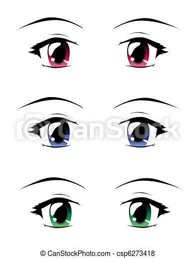 Manga eyes - csp6273418