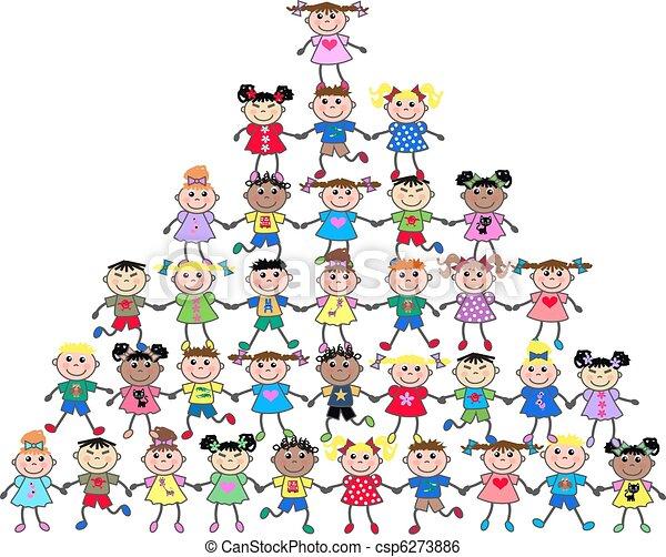 mixed ethnic kids - csp6273886