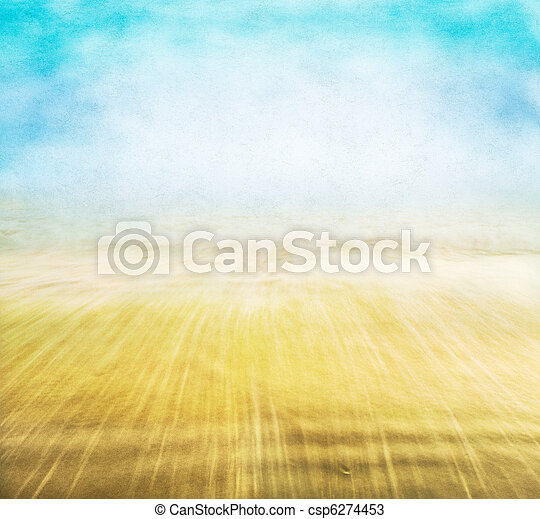 Misty Seascape - csp6274453
