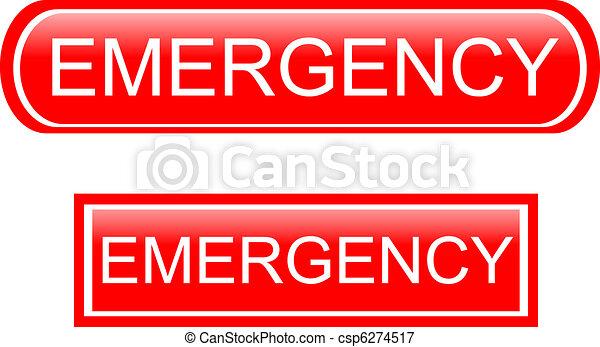Emergency sign icon - csp6274517