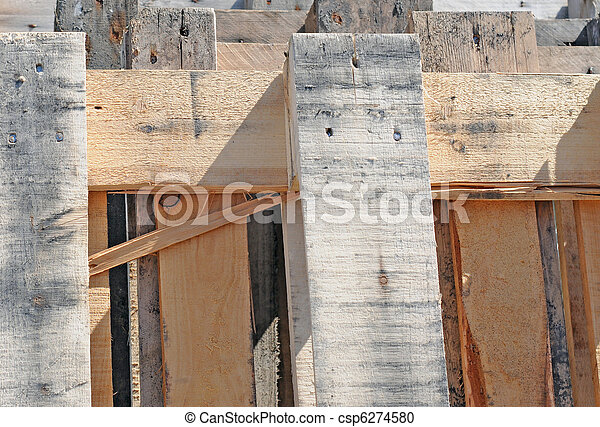Fragment of wooden pallets, abstract background image