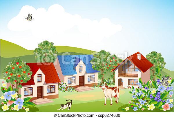 summer rural landscape - csp6274630