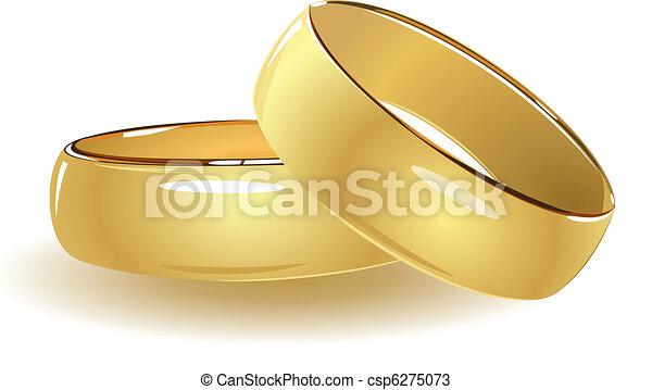Simple wedding rings - csp6275073