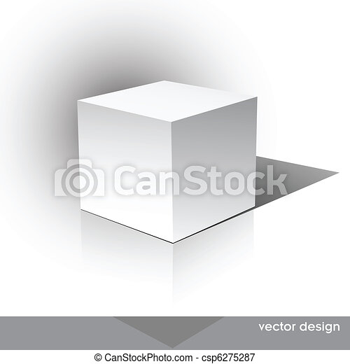 Cube-shaped Software Package Box - csp6275287