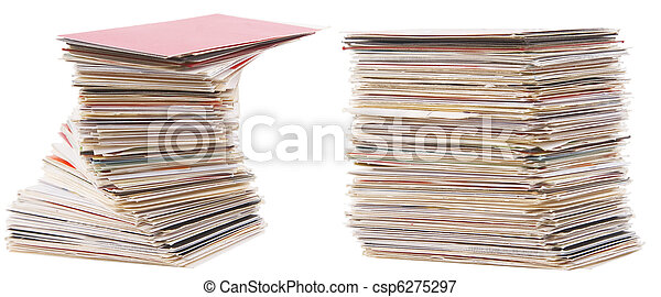 heap of old business card - csp6275297