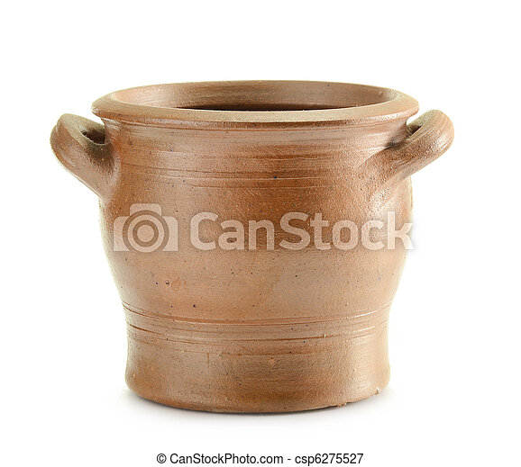Old pottery. Kitchen dishes - csp6275527