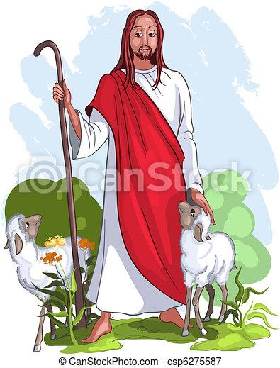 Jesus is a good shepherd - csp6275587