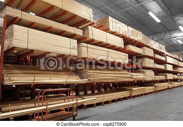Wood in lumber yard - csp6275900