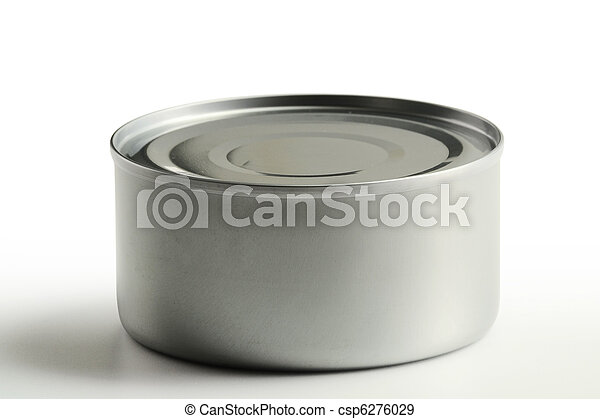Tin can isolated on white background - csp6276029