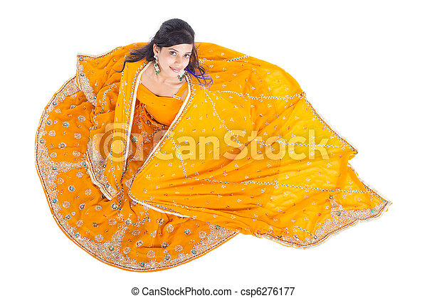 indian woman in sari - csp6276177