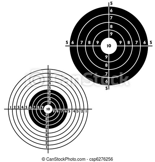 Set targets for practical pistol shooting - csp6276256