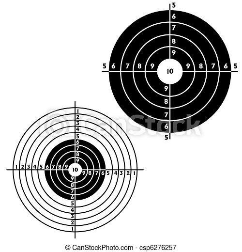 Set targets for practical pistol shooting - csp6276257