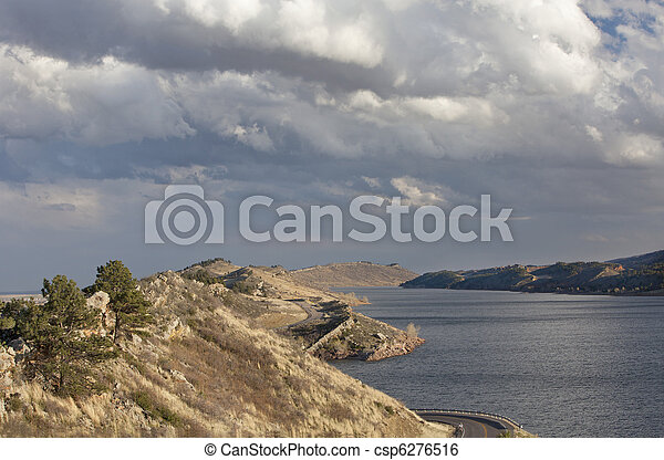 mountain lake in Colorado - csp6276516