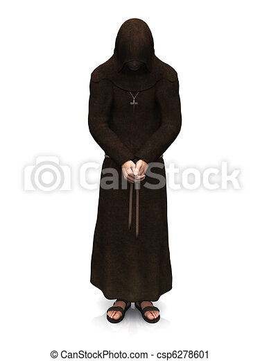 A contemplating christian monk. - csp6278601