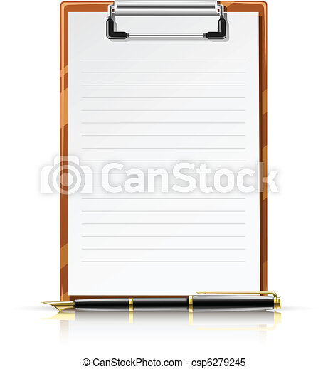 clipboard with pen - csp6279245