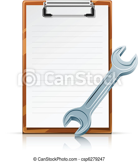clipboard with spanner - csp6279247