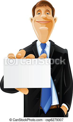 handsome man with card - csp6279307