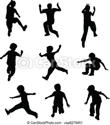 children jumping - csp6279451