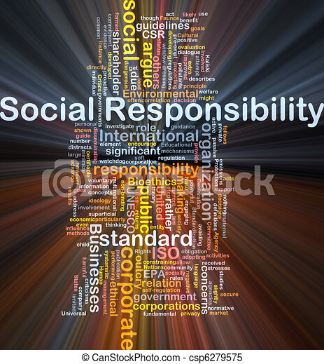 Social responsibility background concept glowing - csp6279575