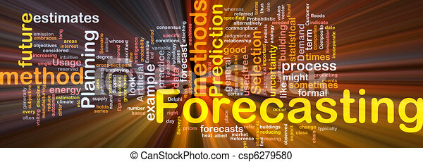 Forecasting background concept glowing - csp6279580