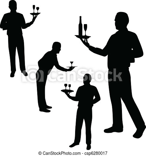 Waiters silhouettes - csp6280017