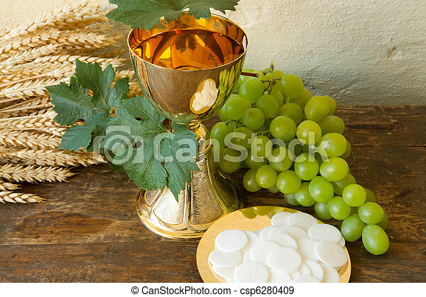 Stock Photographs Of Holy Bread And Wine Holy Communion