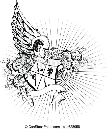 heraldic helmet coat of arms2 - csp6280581