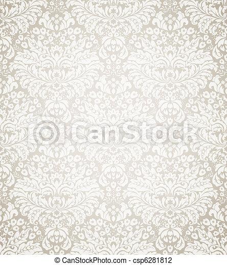 Damask seamless floral pattern - csp6281812