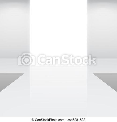 white interior fashion podium - csp6281893