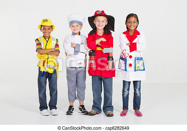little workers in uniform - csp6282649