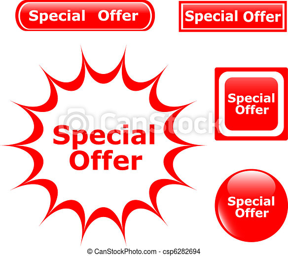 Vector Button Special Offer