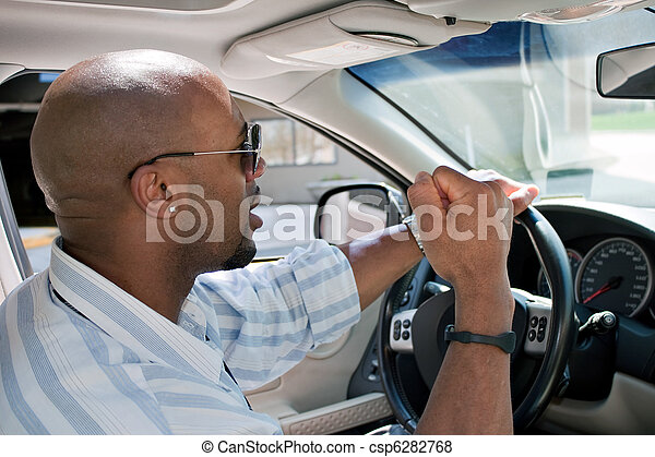 Frustrated Man With Road Rage - csp6282768
